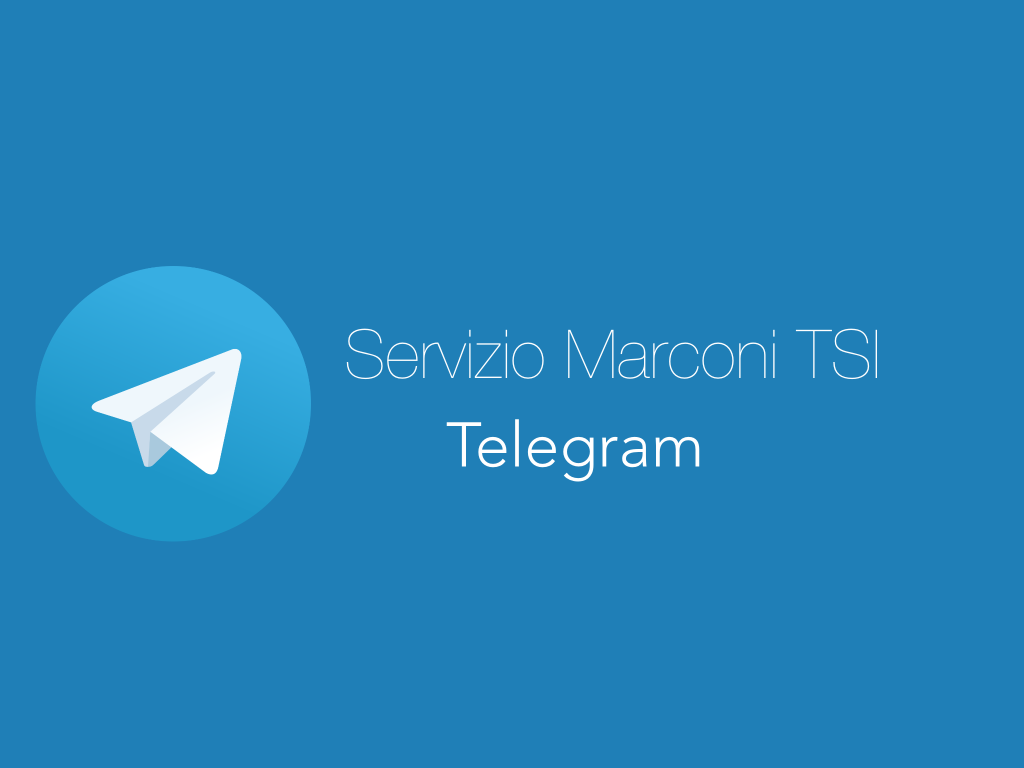 Servizio Marconi TSI Telegram